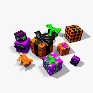 presents bows boxes 3ds