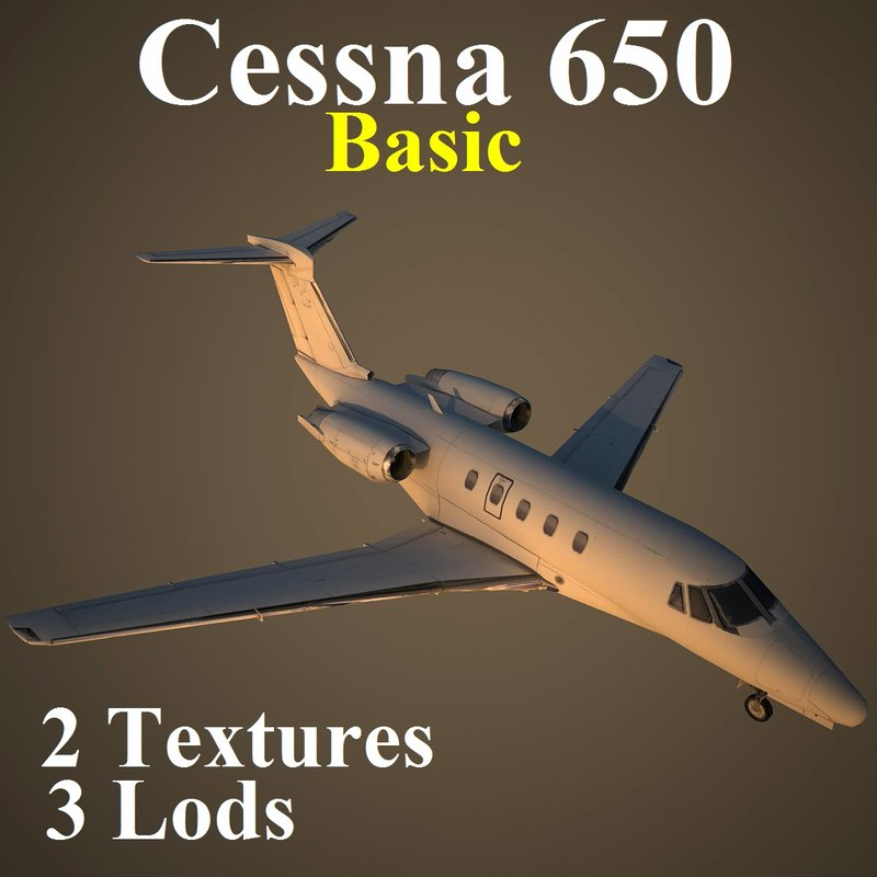 cessna 650 basic 3d max