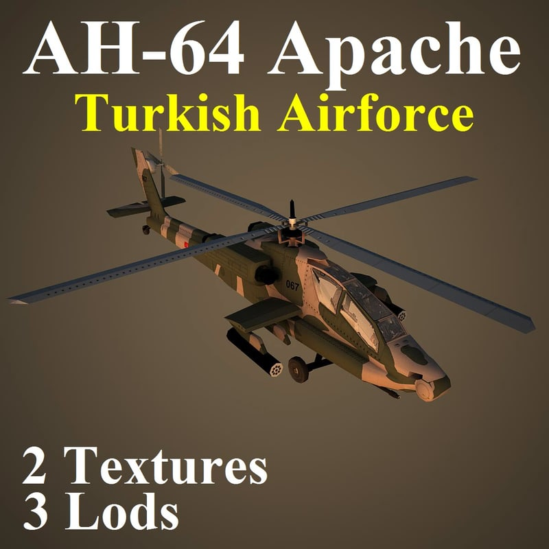 max ah-64 apache taf attack helicopter