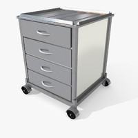 Medical Laboratory Cart Chest Of Drawers Office Small Little moveable Room