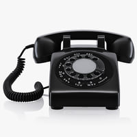 3d old disc telephone