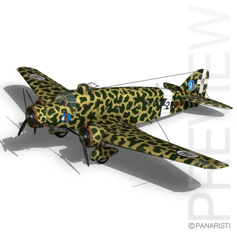 3d model savoia-marchetti 81 pipistrello bomber