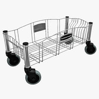 steel dolly container 3d model