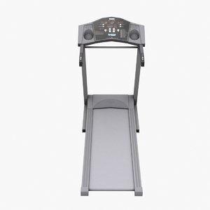 3d model treadmill low-poly