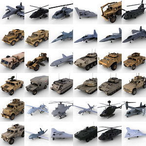 3d huge army vehicles
