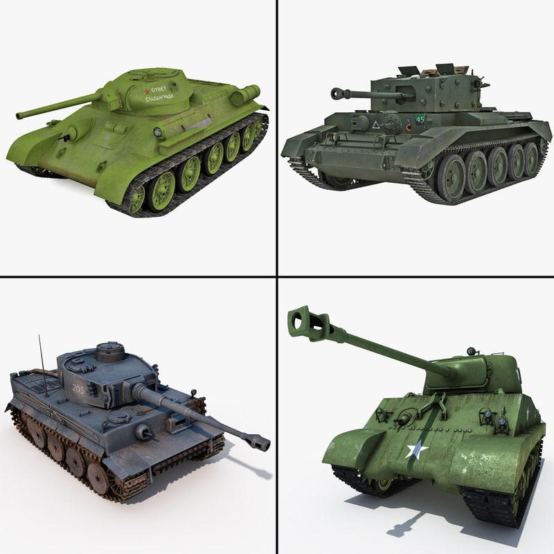 3d world war ii tank
