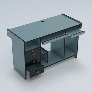 computer table 3d 3ds