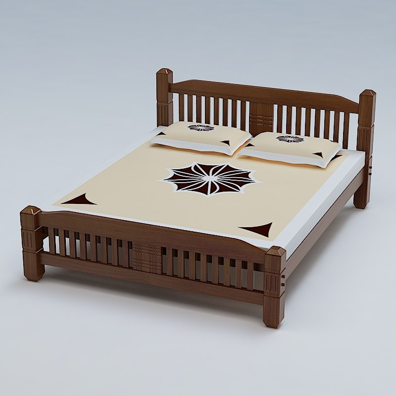 3ds max bed cot