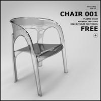 free chair 001 3d model