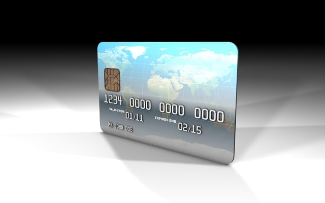 3d model generic credit card