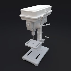 3d model of drill press