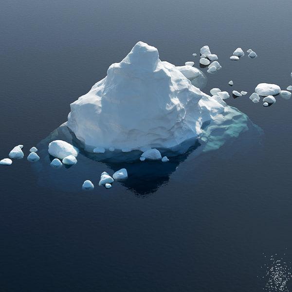 3d model iceberg ice