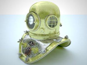 3d model of diving helmet
