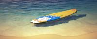 3d model surfing board