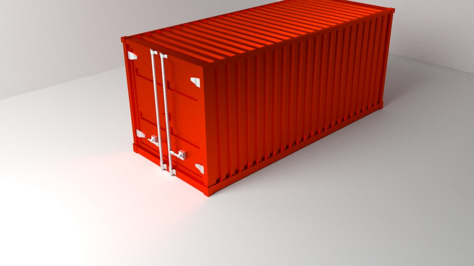 3dsmax container ship