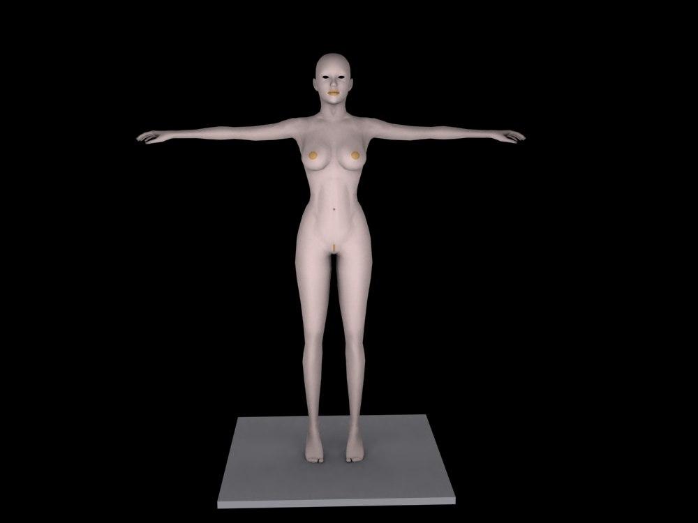 girls human woman 3d model