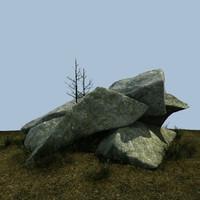 3d granite landscape miniscenes