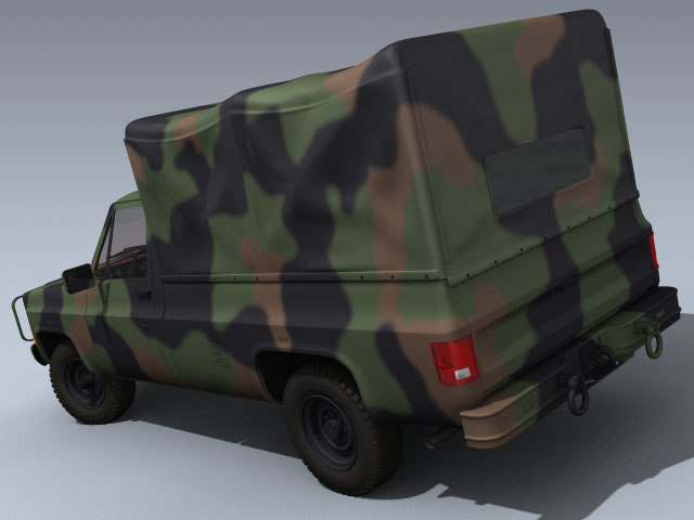 3ds max army m1008 pickup truck