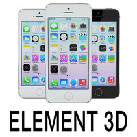 3ds max apple iphone 5s element