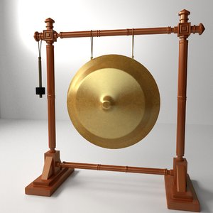 gong 3d model