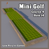 mini golf hole 3d model