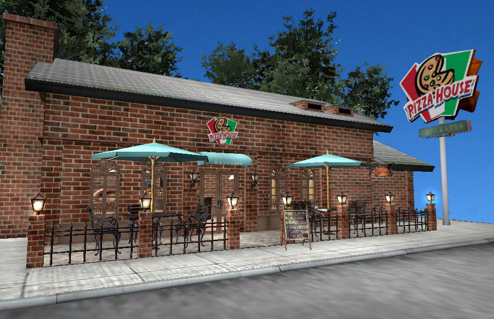 pizza house 3d model