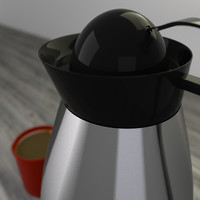 3ds max carafe cup coffee