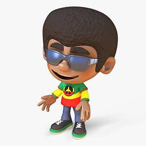 3d model reggae man rigged