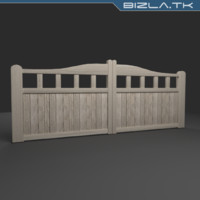 3d model gate wood wooden