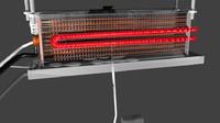 3d model split air conditioner