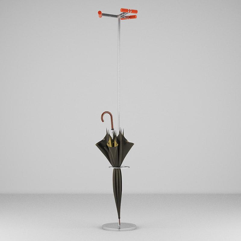 3d umbrella stand model