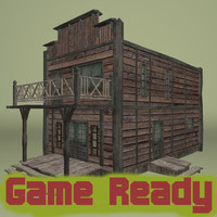 Western house - game ready