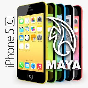 apple iphone 5c obj