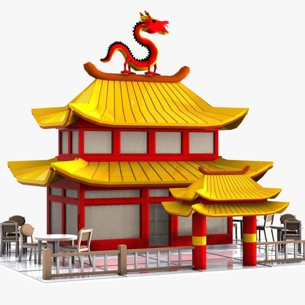 car chinese restaurant obj