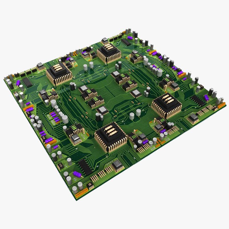 big circuit board city 3d max