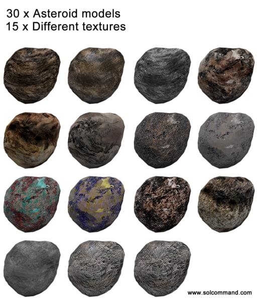3d asteroid polys model