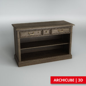 console wood 3d max