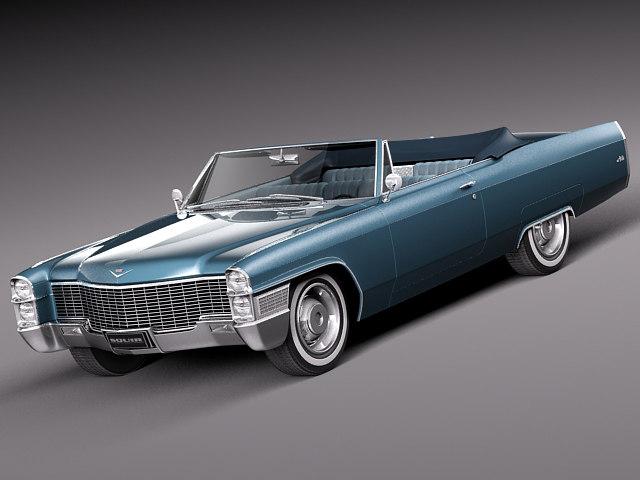 3d 1965 antique luxury convertible