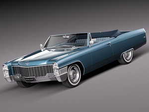 3d 1965 antique luxury convertible