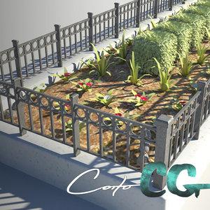 3d planter city s model