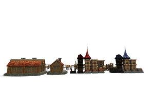 free wooden environment 3d model