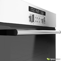 3d built-in single electric oven model