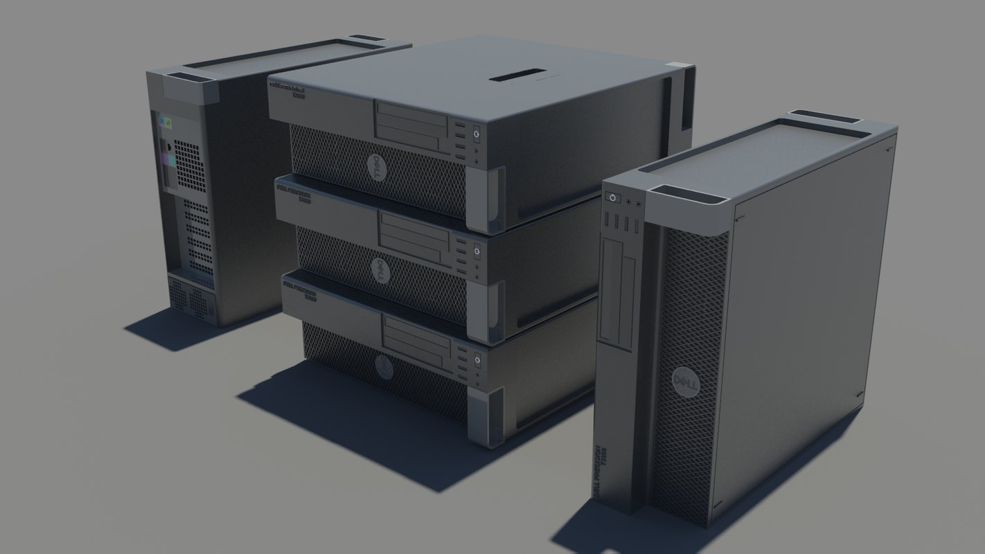 3d model workstations dell