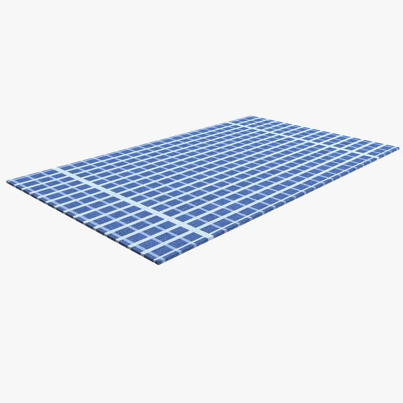 dish towel 3d model