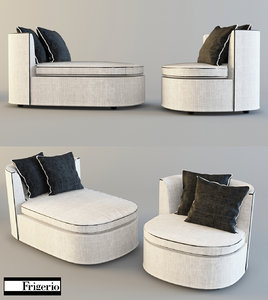3d chair couch frigerio