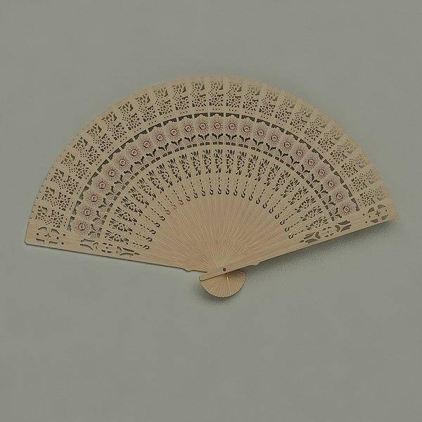 obj chinese hand fan