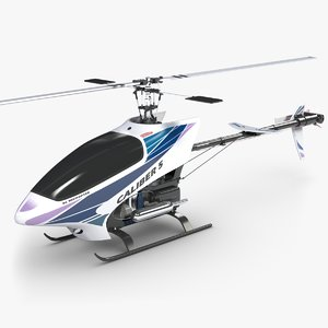 remote control helicopter caliber 3d model