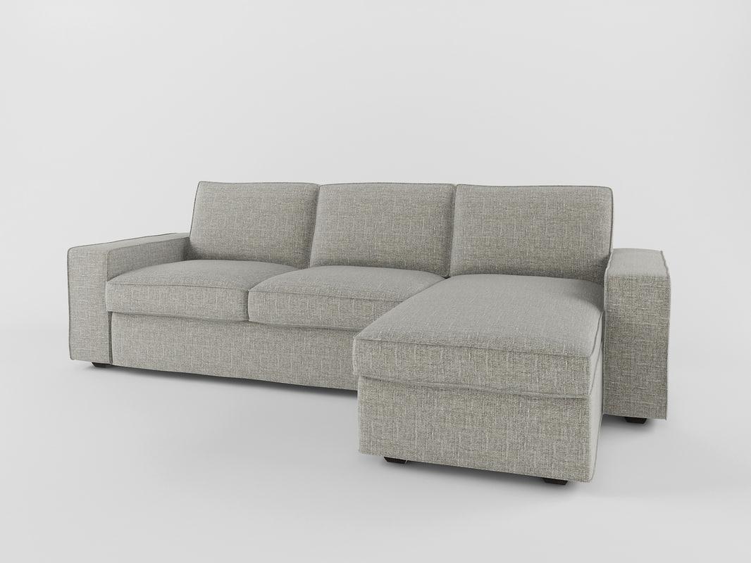 sofa kivik ikea 3d obj. Black Bedroom Furniture Sets. Home Design Ideas