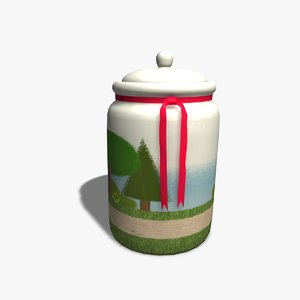 3d biscuit barrel model