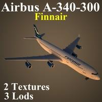3d model airbus fin